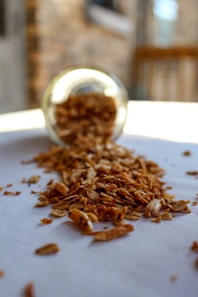 granola jar spill-