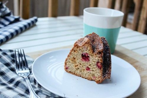 cranberry ginger bundt cake