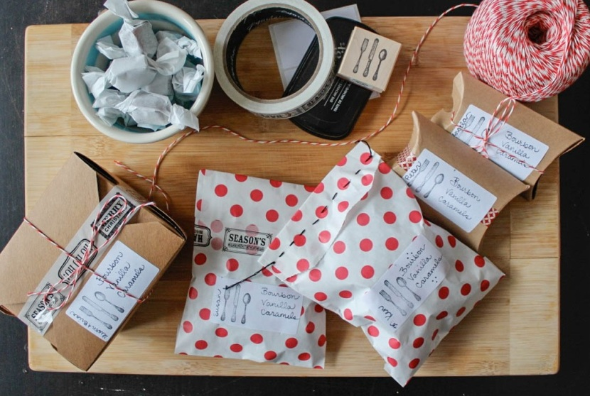 caramel packaging crop