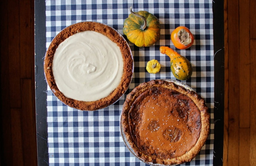yogurt and salted honey pies